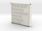 3D Printing Services List Pendant in White Strong & Flexible