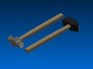 Forging hammers 1:12 scale / Smeedhamers schaal 1: in White Strong & Flexible