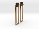 HO cross head hangers in Raw Brass