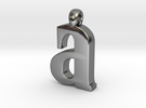 Lowercase A in Premium Silver