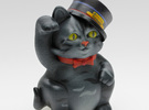 Smart Cat Maneki Neko in Full Color Sandstone