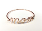 Mom Wire Bracelet in 14k Rose Gold Plated