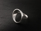 Circle Ring - Sz5 in Premium Silver
