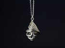 CARACOLA PENDANT in Raw Silver