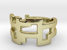 Ring Blocks - Size 5 in 18k Gold Plated