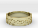Ring with Eyes - Size 8 in 18k Gold Plated