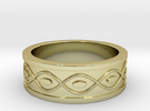 Ring with Eyes - Size 4 in 18k Gold Plated