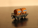 n-scale wine wagon simple in Frosted Ultra Detail