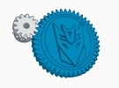 Decepticon Large Extruder Gear Kit in White Strong & Flexible