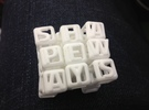 Shapeways Interlocked Cubes in White Strong & Flexible