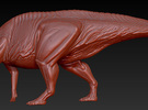 1/40 Parasaurolophus - Preening in White Strong & Flexible