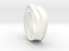 Drape Bracelet B in White Strong & Flexible Polished