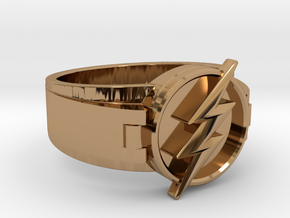 V2 Flash Ring Size 9, 18.89mm in Polished Brass