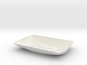 Plastic Soap Dish in White Strong & Flexible