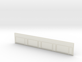 Strip Mall Front 3B Clear Z Scale in Transparent Acrylic