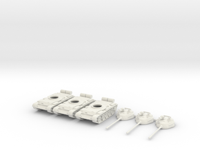 1/160 scale T-55 tanks in White Strong & Flexible