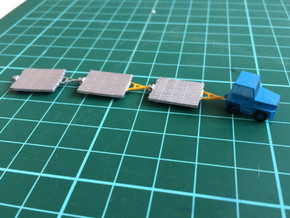 GSE Airport Baggage Container Cart 1:200 (9pc) in Frosted Ultra Detail