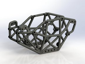 Goat v2 1/24th scale micro rock crawler chassis in Black Strong & Flexible