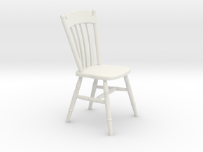 1:24 Thumb Chair (NOT FULL SIZE) in White Strong & Flexible
