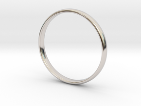 Simple wedding/engagement band - size 6 US in Rhodium Plated