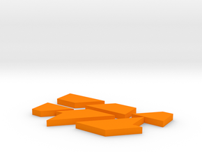 IQGeek puzzle, letter  in Orange Strong & Flexible Polished