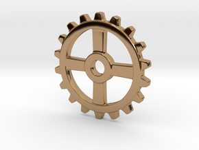 One and a half Inch Four Normal Spoke Gear in Polished Brass