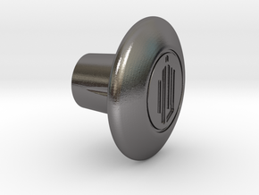 Shooter Rod Knob - Dr Who ? in Polished Nickel Steel
