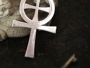 Gnostic Cross Pendant in Polished Silver