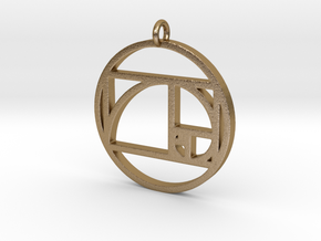 Golden Ratio Spiral Pendant in Polished Gold Steel