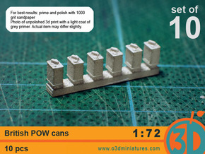 British POW cans 1/72 scale pack of 10 in Frosted Ultra Detail