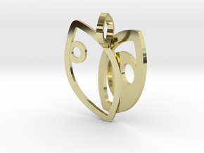 Eyes hugged in 18k Gold Plated