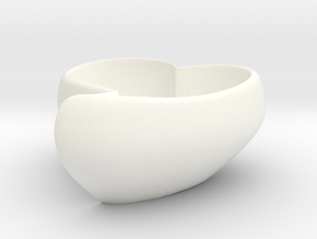 Loving Heart Coffee Cup in White Strong & Flexible Polished