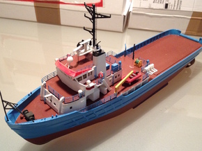 MV Anticosti Hull, Decks and GillJet (RC, 1:200) in White Strong & Flexible