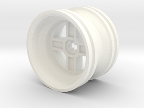 Wheel Design II in White Strong & Flexible Polished