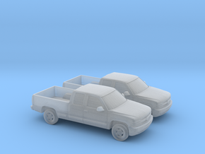 1/160 2X 2000 Chevrolet Silverado Extended Cab in Frosted Ultra Detail