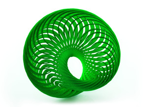 Mobius Nautilus in Green Strong & Flexible Polished