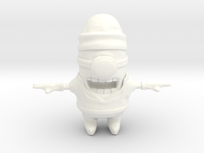 Minion in Links Outfit in White Strong & Flexible Polished