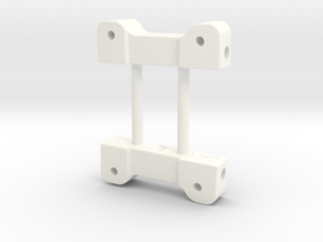 NIX91-041 Rear arm mounts in White Strong & Flexible Polished