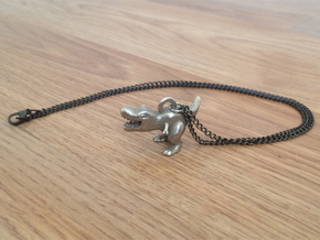 T. Rex Necklace Pendant in Stainless Steel