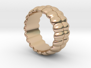 Mirror Ring 27 - Italian Size 27 in 14k Rose Gold Plated
