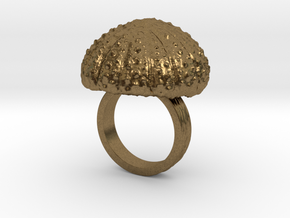 Urchin Statement Ring - US-Size 5 1/2 (16.10 mm) in Raw Bronze