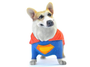 Super Corgi in Full Color Sandstone