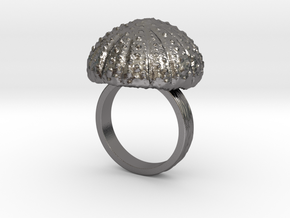 Urchin Statement Ring - US-Size 9 1/2 (19.41 mm) in Polished Nickel Steel