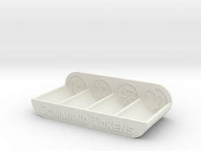 Armada Command Token Tray in White Strong & Flexible