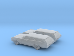 1/160  2X 1967 Chevrolet Impala Station Wagon in Frosted Ultra Detail