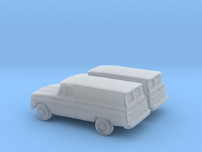 1/160 2X 1966 GMC Panel Van in Frosted Ultra Detail