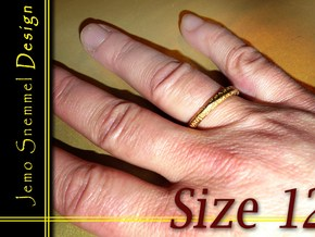 """Mobius ring """"I Love You Forever"""" Size 12 in Matte Gold Steel"""