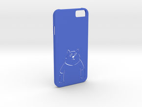 iPhone6 Cat Case in Blue Strong & Flexible Polished