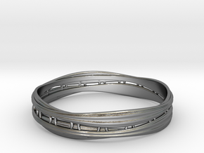 Cloth ring2(Japan 18,America 9,Britain R)  in Polished Silver