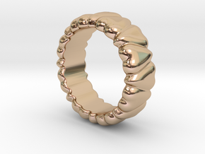 Ring Heart To Heart 32 - Italian Size 32 in 14k Rose Gold Plated